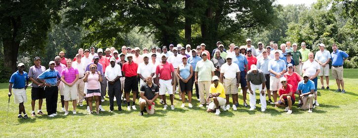 Prince Hall 2018 group photo of golf participants.