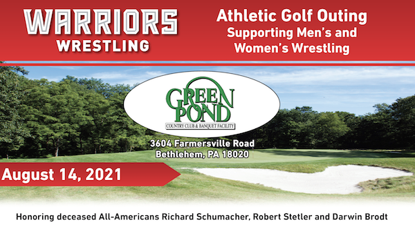 Warriors Wrestling Athletic Golf Outing Supporting Men's and Women's Wrestling (2021)