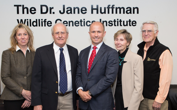 Members of Dr. Jane Huffman's family at the dedication ceremony.